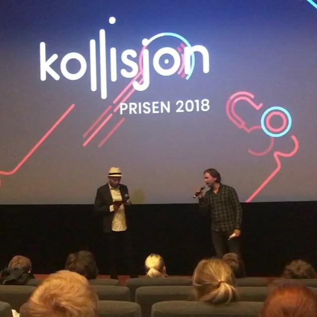 Kollisjon er i gang, kort info om prosjektet før musikkvideoene vises og salen skal kåre en vinner🤩 @oslo_pix @most_musikk