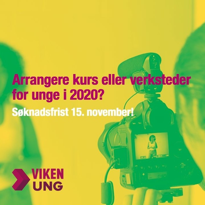Minner om søknadsfristen fredag 15. november. Planlegger du å arrangere kurs, verksted, seminar, mesterklasse eller lignende for unge i 2020? Vi har øremerkede midler til tiltak som styrker unge filmskapere og spillutviklere i Viken-regionen og Oslo.  Ta gjerne kontakt dersom du har spørsmål til ordningen :D  Les mer på våre nettsider (link i bio). . . . . .  #ungfilm #filmverksted #spillutvikling #vikenfilmsenter #viken #oslo #vikenung